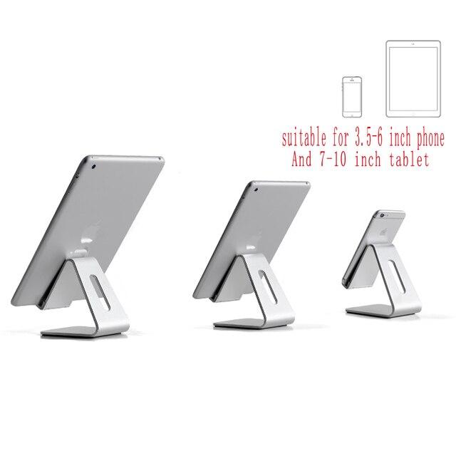 DeepFox Tablet Stand Aluminium Alloy Metal Tablet Stand Universal Desk Holder for iPhone X Macbook Laptop
