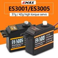 Emax-Servo analógico ES3001 ES3005 de Metal, resistente al agua, con engranajes, servo de 43g, par de 13KG, para coche, barco, avión