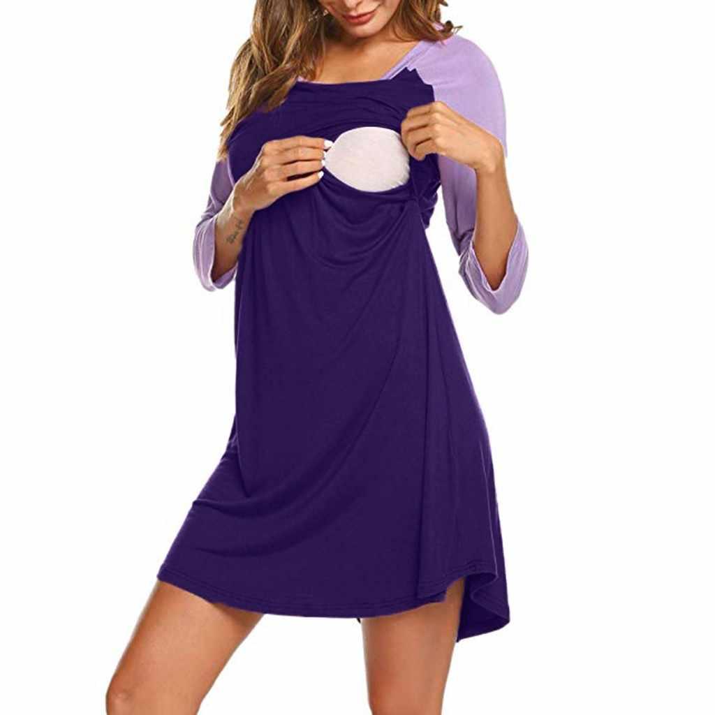 2019 средства ухода за кожей для будущих мам кружево платье для спортивного костюма, пижамы, одежда для сна, для беременных пижамы Ночная рубашка для грудного вскармливания элегантное платье для беременных