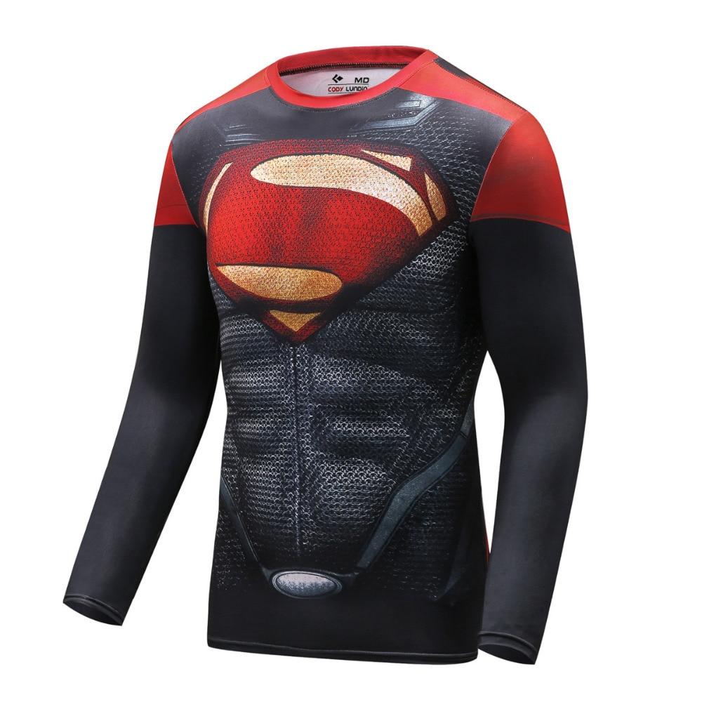 Cody Lundin marvel superhero Aptidão T-shirt de manga longa De Compressão  compressão 3D Herói 0f38aaea715be