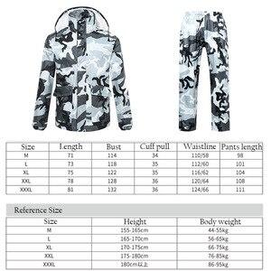 Image 2 - Chubasquero de camuflaje para hombre y mujer, ropa impermeable para exteriores, para pesca, Camping, lluvia