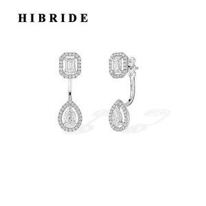 Женские серьги-подвески hibrid, в форме капель воды, для свадьбы, E-873