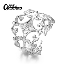 Lovely Ladies Butterfly Ring Silver Color Open Rings For Women With Top Quality Cubic Zirconia Stone Jewelry Gifts R288