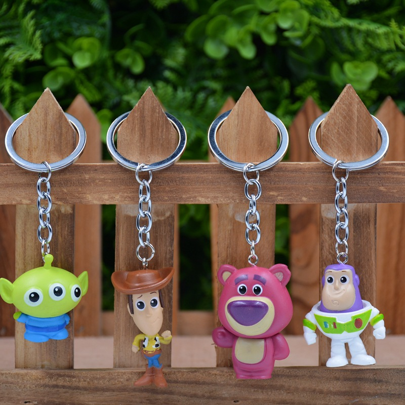 Toy Story 4 Mini Action Figure Toy Story Buzz Lightyear Woody Jessie Hamm Pig Bear Mochila Dinosaur <font><b>Alien</b></font> Toy Story Figure image