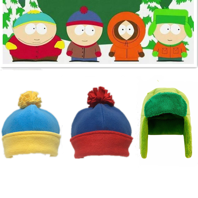 Adult Kids Unisex South Park Kyle Broflovski Stan Marsh Eric Theodore Cartman Cosplay Trapper <font><b>Hat</b></font> Cosplay Accessories <font><b>Hat</b></font> Cap