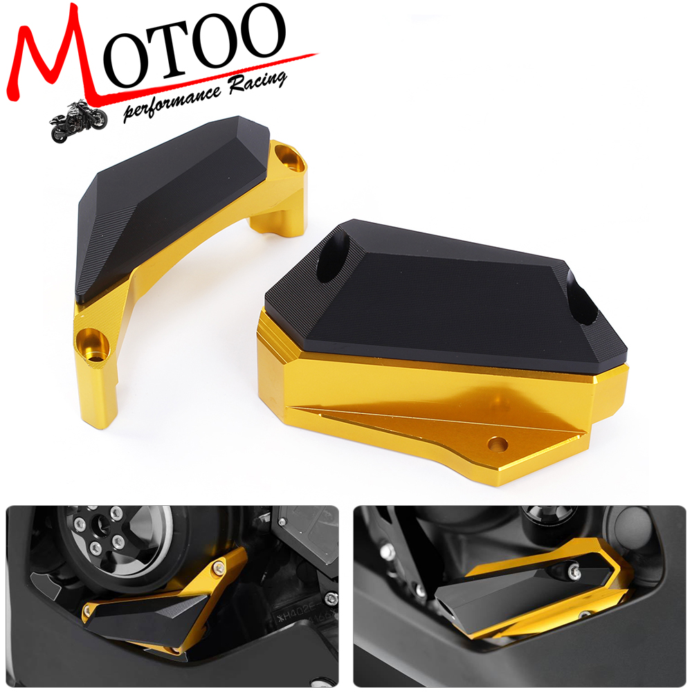 Motoo - Motorcycle CNC Frame Slider Engine Stator Case Guard Cover Protector For Yamaha YZF R3 2015 2016 YZF R25 2013-2015