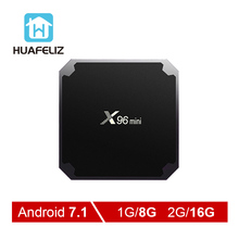 X96mini Android 7.1 tv box Amlogic S905W Quad Core Media Player Wifi 2.4GHz 4K 2