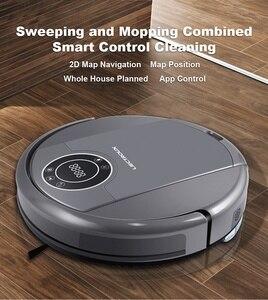Image 2 - LIECTROUX ZK808 робот пылесос , WiFi App управление, картография,Гироскоп навикация, с памятью, УФ лампа, влажная и сухая уборка, моющий, всасывание 3000па,безщеточный мотор