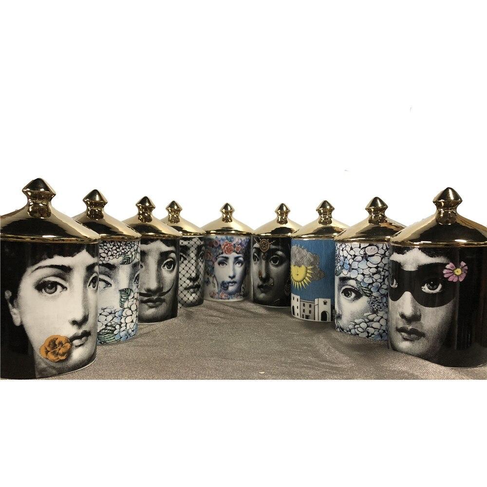 Fornasetti Bougeoirs Candélabres Décoration de La Maison Exquis Pot En Céramique Tasse Fleur L'organisation De Fleurs Pots Décor Maroc Mumluk
