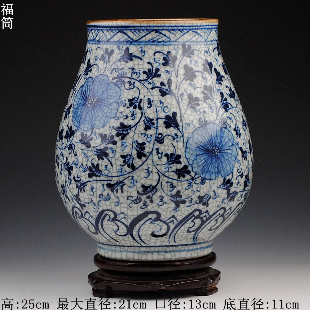 Home decoration and gift using unique crackle chinese blue and home decoration and gift using unique crackle chinese blue and white ceramic porcelain flower vases in vases from home garden on aliexpress alibaba reviewsmspy