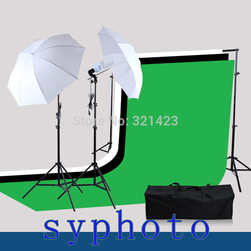 Yuguang Free Tax To Russia Photographic Lighting Suit Light Stand and 3 Muslins Backdrop chromakey Support Kit