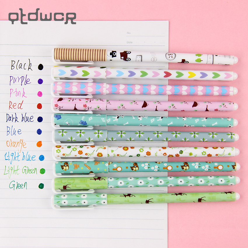 10PCS Korean Stationery Watercolor Pen Gel Pens Set Color Kandelia For Writting Office School Supplies Gift 10 pcs kawaii cartoon colorful gel pen set cute korean stationery pens for writting office school supplies 10 kinds color gift