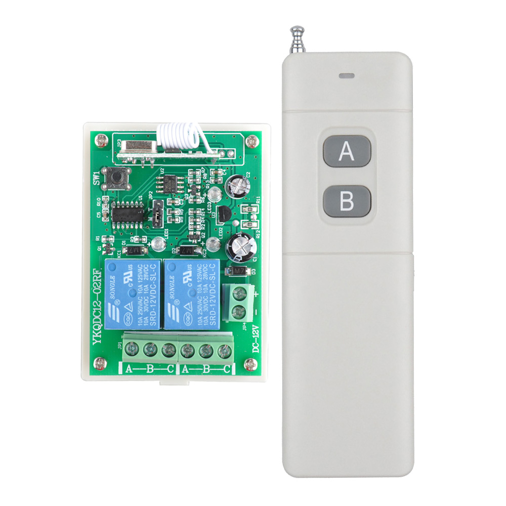 Wireless Remote Control Switches 12v Dc 2ch Relay Rf Receiver Long Range Transmitter 300-3000m Momentary Toggle Latched 315/433m In Short Supply Switches Lighting Accessories