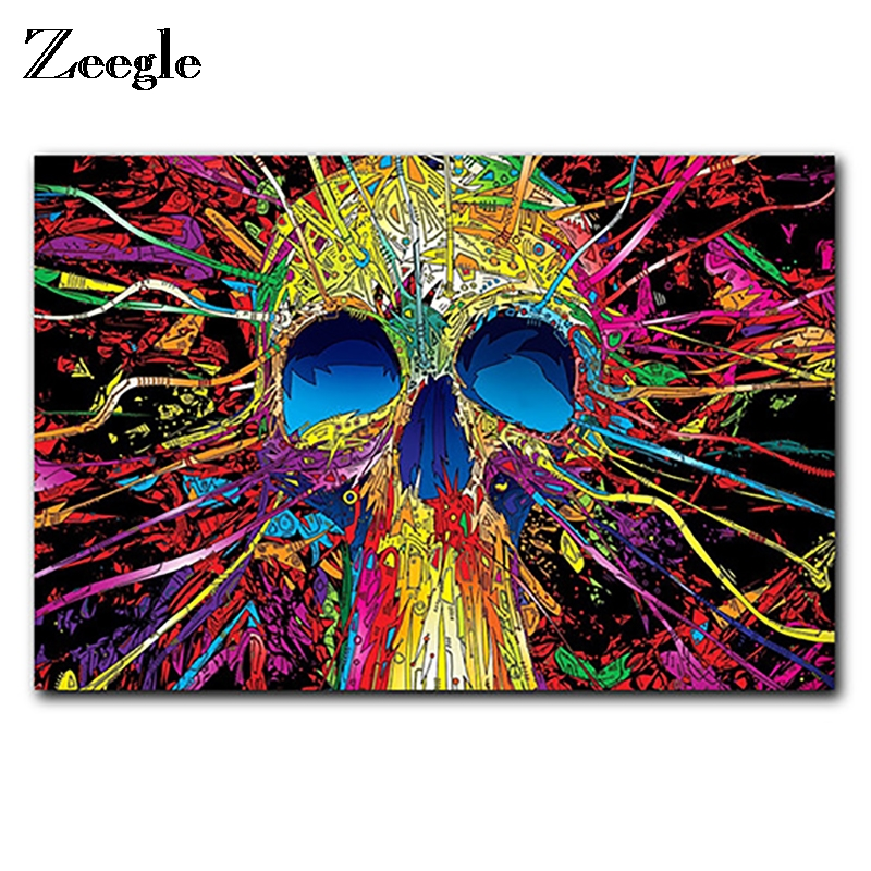Zeegle Door Mat Halloween Floor Mat Skull Carpet Bath Bedroom Non-slip Rug Stair Mats Home Decor Kitchen Carpet