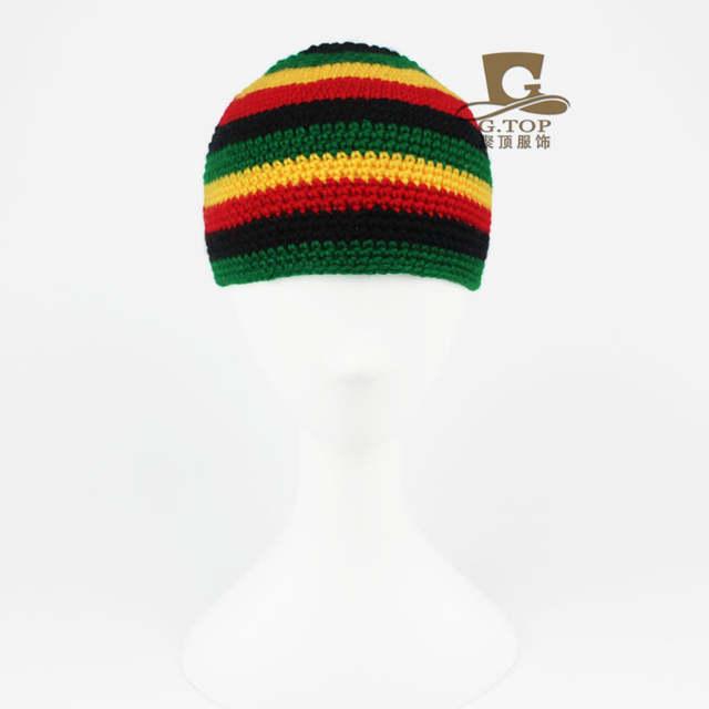 più alla moda lussureggiante nel design come ordinare Rasta cappello di inverno caldo cappelli fatti a mano all'uncinetto Jamaica  beanie Cappellini cap hip hop Bob Marley Rasta di Reggae cappelli