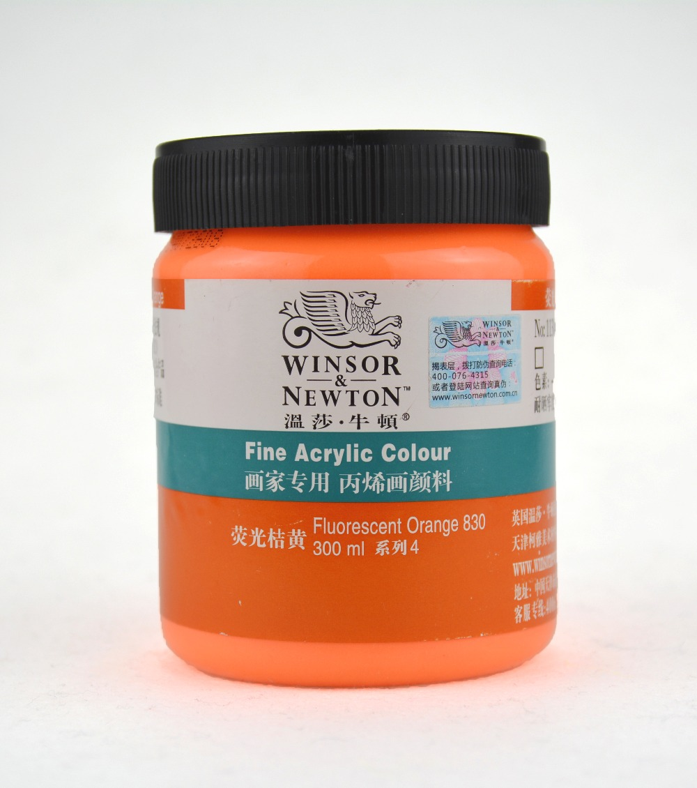 Is acrylic paint fluorescent?