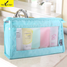 Travel Kits Female waterproof High capacity Korean men business travel wash sieve bag portable pouch Hot sale 2017 free shipping