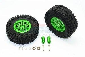 Image 4 - TRX TRX 4 TRX4 82056 4 Алюминиевый сплав 6 полюсные колеса и гусеничная шина + 21 мм шестигранный адаптер набор TRX4689/21 мм