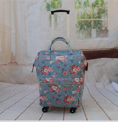 Travel Trolley backpacks bags Double Use luggage bags for travel Laptop Trolley backpack for women Business Rolling Luggage bag