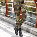 Fashion Women Camouflage Pants Women's Army Cargo Pencil Pant Slim Cotton Waist Ladies Skinny Trousers For Women GK-969