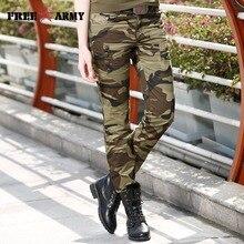 Mode taille Camouflage pantalon