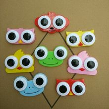 1PC Sweet Cartoon 3D Big Eyes Contact Lenses Box & Case Owl Frog Animal Shape Contact Lens Case Free Shipping(China)