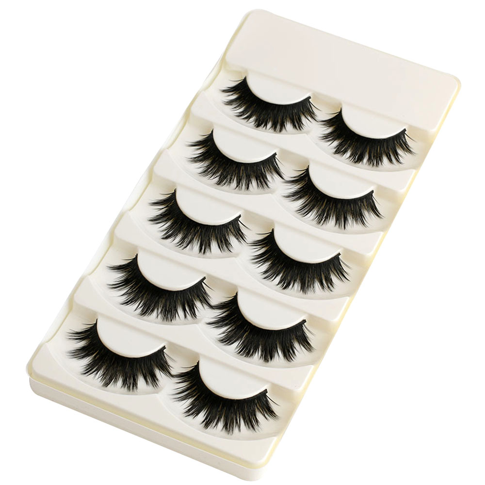 5 Pairs Soft Long Makeup Cross Thick False Eyelashes Natural Handmade Eye Lashes Extension Make Up Beauty Tools 1