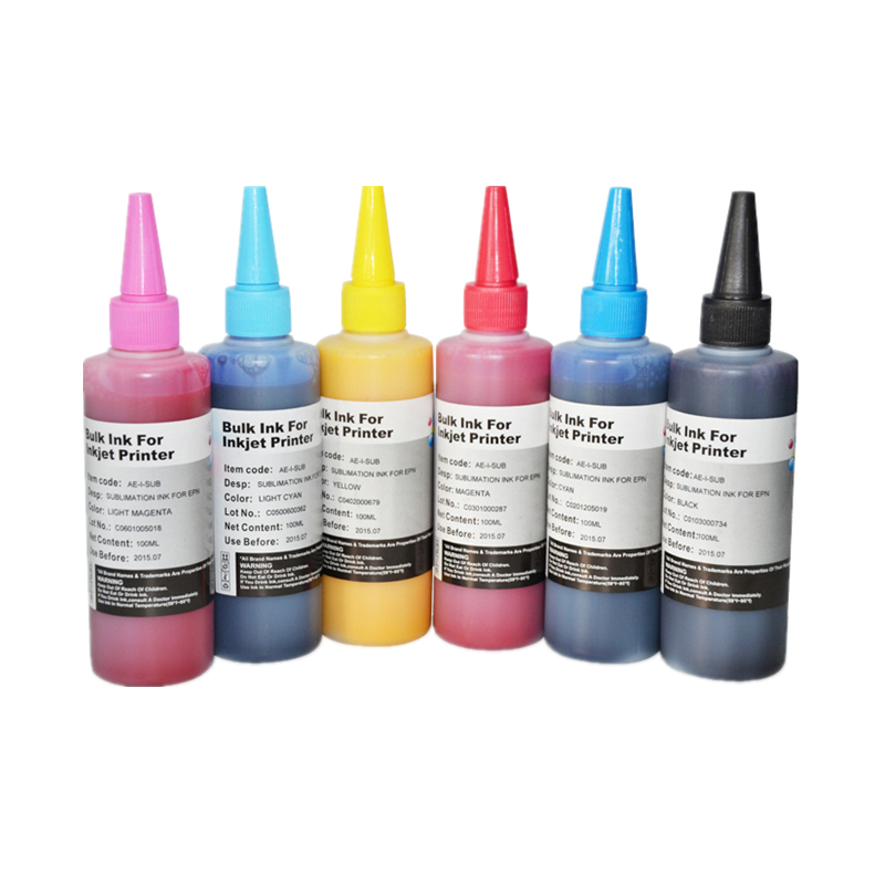 High Quality 600ML Sublimation Ink for Epson L800 L801 printing ink Cartridge No T6731 2 3