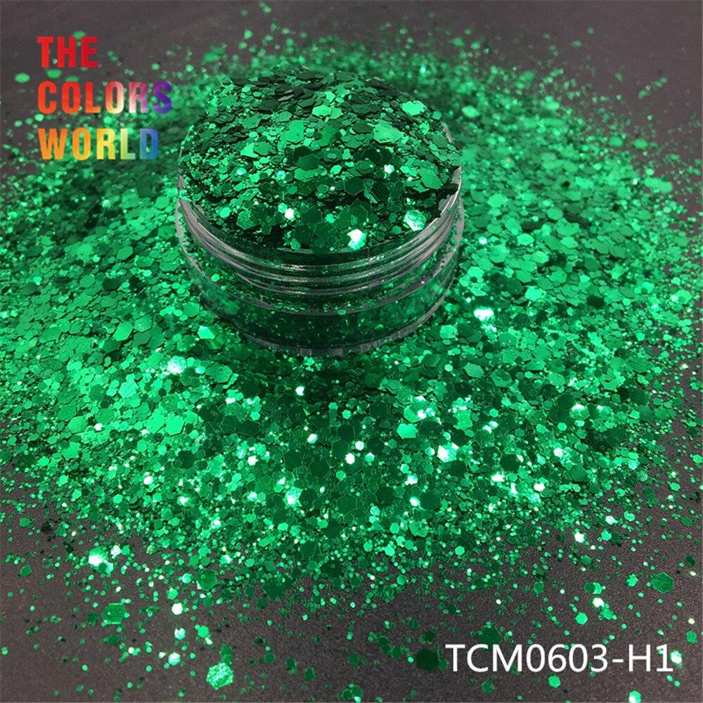 TCT-194 Hexagon Shape Chunky Mix Metallic Color Nail Glitter For Nail Art DIY Decoration Body Art Makeup FacePainting  DIY