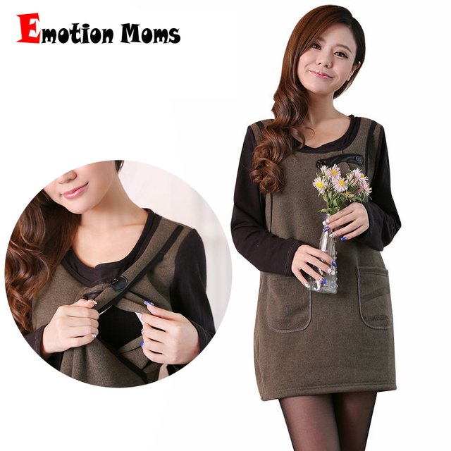 34442a629fb Emotion Moms Long Maternity clothes Nursing top Breastfeeding Tops  Maternity dresses pregnancy clothes for pregnant women