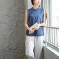 Estilo chinês Do Vintage Tanque Sem Mangas Camisa Blusa Mulheres Kawaii Bonito Solto Casual Verão Camisa Blusa de Design Da Marca Tops 5041