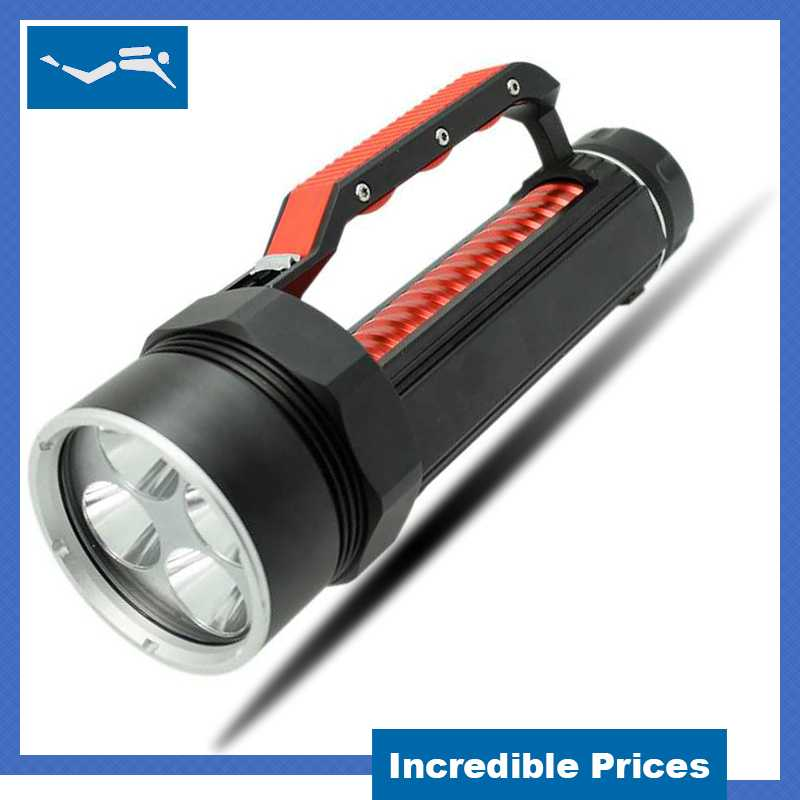 High Power Led Torch 10000 Lumens Flashlight XM-L2 Diving Lamp Waterproof Video Led Search Dive Light 26650 for Fishing X900 2015 brand new professional diving dive light torch diving waterproof 6x xm l2 9000lm led flashlight