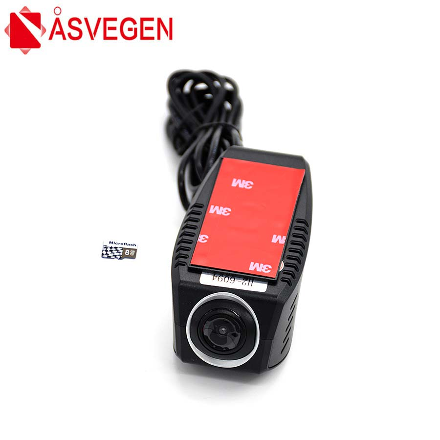Asvegen Universal Night Vision Usb Dash Car Camera DVR Video Recorder ADAS Lane Departure Warning Dashcam DVRs With 8GB TF Card