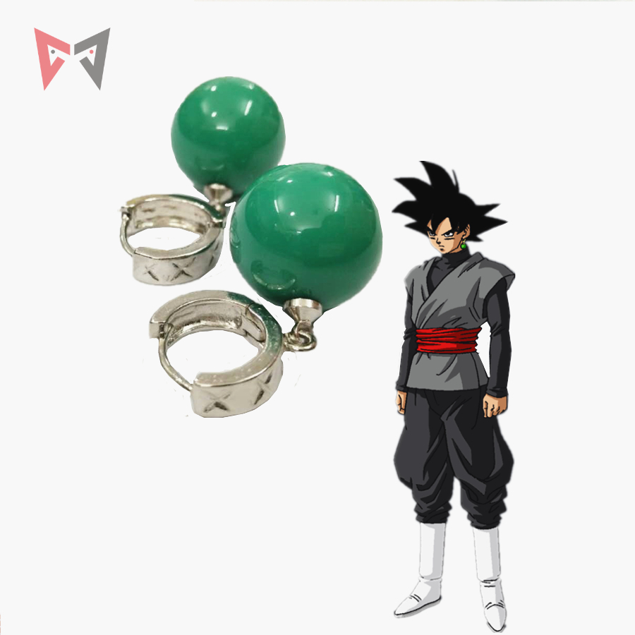 MMGG  Halloween Anime Dragon Ball Super Cosplay Zamasu Cosplay Badge Earring