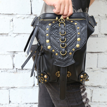 Steampunk rétro rock sac nouvelle femme messenger sac à bandoulière mode mobile téléphone sac cas hommes et femmes taille pack sac