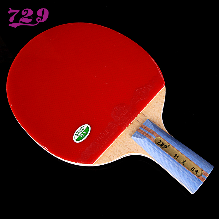 ФОТО [Playa PingPong] 729-6 star stars 7 layer carbon table tennis racket blade with rubber finished product fast arc lap attack