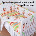 Promotion! 6/7PCS baby crib bedding set baby bed set Comforter Cover cot set , 120*60/120*70cm