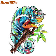 RUOPOTY Frame Abstract Frog DIY Painting By Numbers Kits Acrylic Paint On Canvas Modern Wall Art Picture For Home Decor 40x50cm(China)