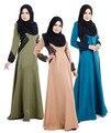 Женщины Макси исламской Мусульманские Платья Абая С Длинным Рукавом Партия Макси Талия кружева Кафтан дубай мусульманский одежда