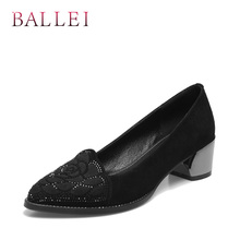 High Quality Woman Pumps Vintage Genuine Leather Round Toe Soft Square Heels Shoes Elegant Solid Office Lady Pumps D34 цены онлайн