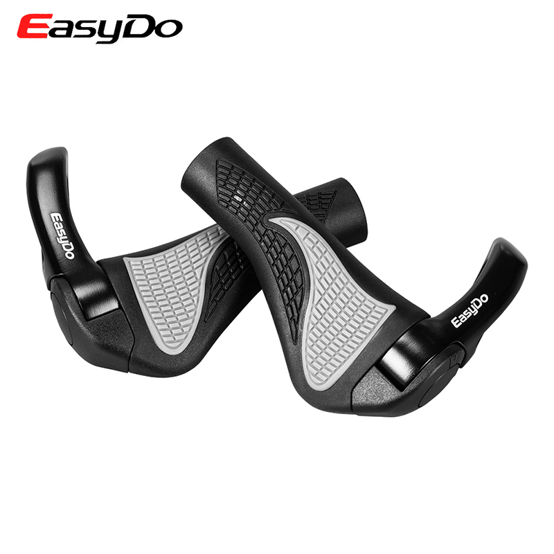 EasyDo MTB Mountain Bike Handlebar Cycling Handle Bar Ergonomic Push On Soft Grips Rubber & Aluminium/Magnesium 2Colors