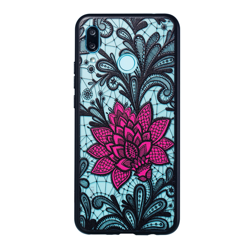 Huawei Nova 3 Case Cover Silicone Phone Case For Huawei Nova 3 Cover Lace Rose Flower Case Huawei Nova 3 in Fitted Cases from Cellphones Telecommunications