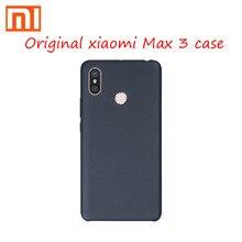 Orijinal Xiaomi max 3 kılıf kapak hakiki Mi MAX3 silikon rahat el duygular mikrofiber Mimax3 kapak PC malzeme Mi max3