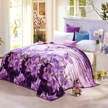 Tecnología de punta Paquete de peluche lindo Patrón de Alta Densidad Súper Suave textil Manta de franela en on para el sofá cama 4 tamaños