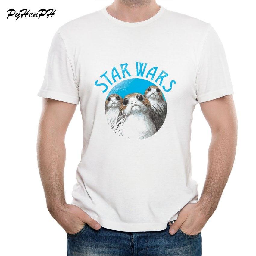 159 Best Star Wars T Shirts Images On Pinterest: Star Wars T Shirt Men 2018 New Funny Tshirts Starwars Porg