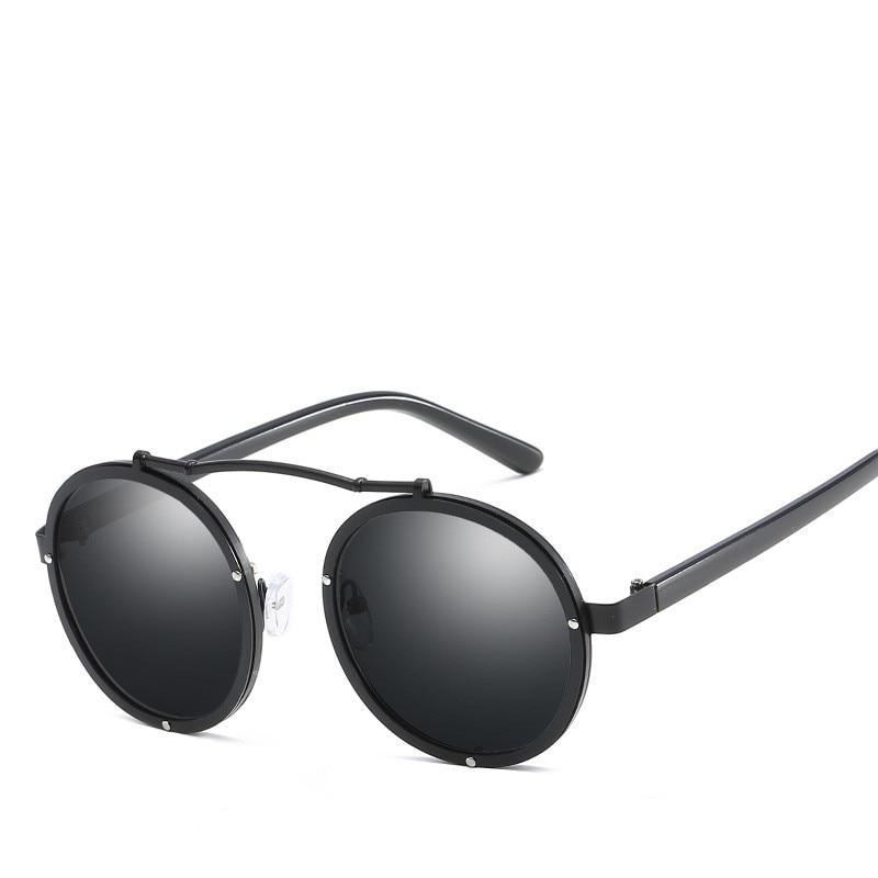 2019 Luxury Gothic Steampunk Sunglasses Men Women Brand Designer Shades Retro Round Mens Sunglass Male Sun Glasses For Men 2018 in Men 39 s Sunglasses from Apparel Accessories