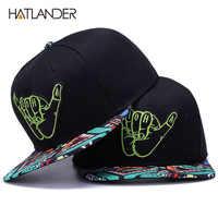 [HATLANDER] di Marca Del Ricamo Retro baseball Cappellini per gli uomini delle donne bone snapbacks kenka nero cappelli di sport street art hip hop della protezione del cappello