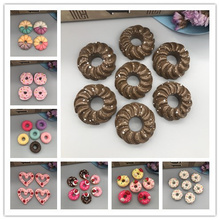 Free shipping! Kawaii pink donuts. Resin Flatback Cabochon for phone decoration,DIY .20mm