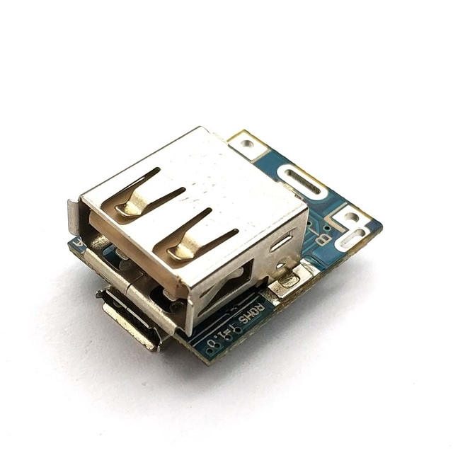 1 Uds. Módulo de alimentación de 5V de aumento Placa de protección de carga de batería de litio Boost Converter pantalla LED USB para cargador DIY 134N3P