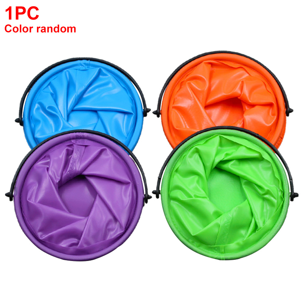 Outdoor Camping Travel Washing Bag Bathroom Camping Folding Bucket Portable Ergonomic Fishing Supplies Kitchen With Compartment